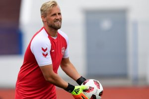 Denmark's goalkeeper brushes off discussing potential last-8 rival
