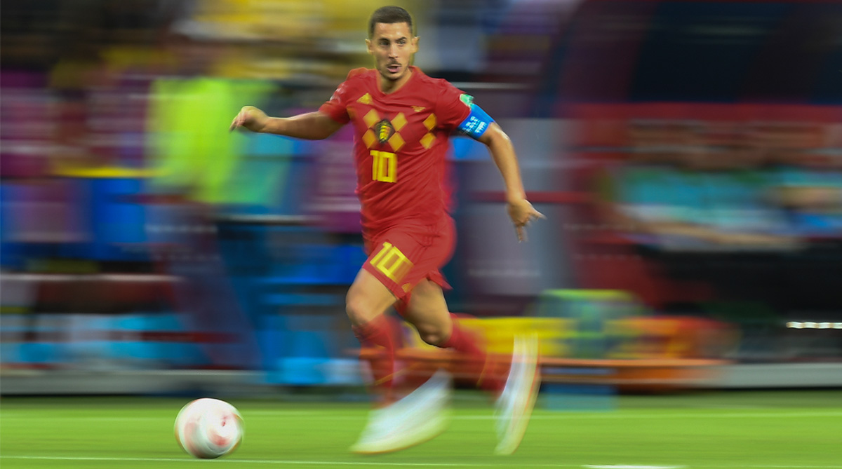 Belgium winger Eden Hazard prepares for France clash with fresh trim