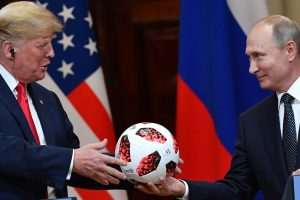 'The ball is in your court': Putin presents Trump with FIFA World Cup official ball