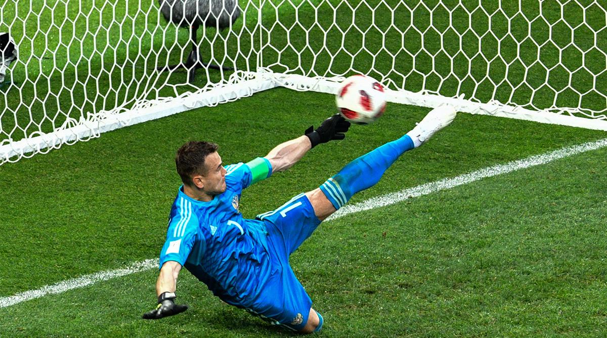 Igor Akinfeev, Russia vs Spain, 2018 FIFA World Cup, FIFA World Cup 2018, Russia Football
