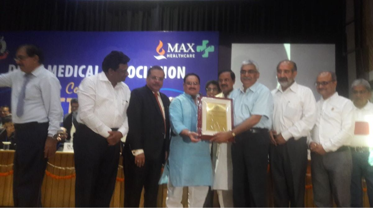 Vishisht Chikitsa Ratan Award, Dr TS Kler, Delhi Medical Association, Health Minister, JP Nadda