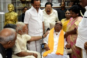 Karunanidhi admitted to hospital after drop in blood pressure