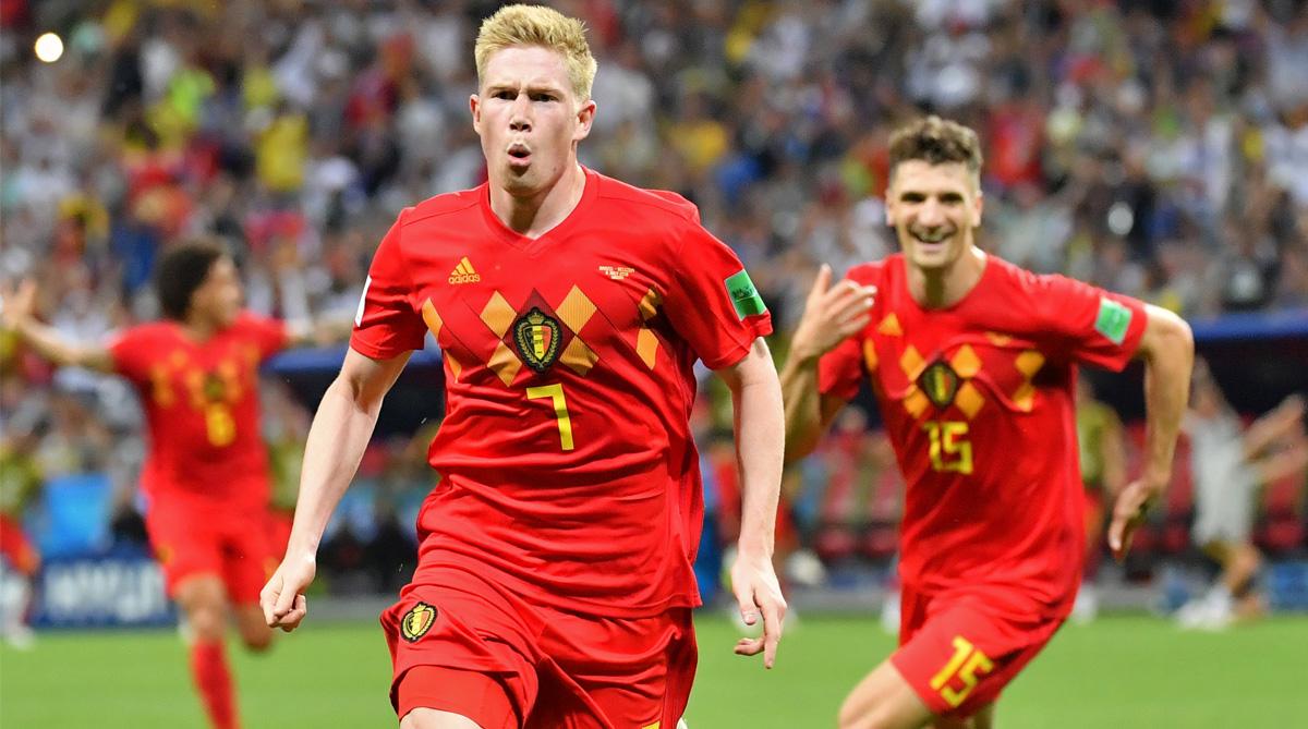 Kevin De Bruyne, Brazil vs Belgium, 2018 FIFA World Cup, FIFA World Cup 2018, Belgium Football