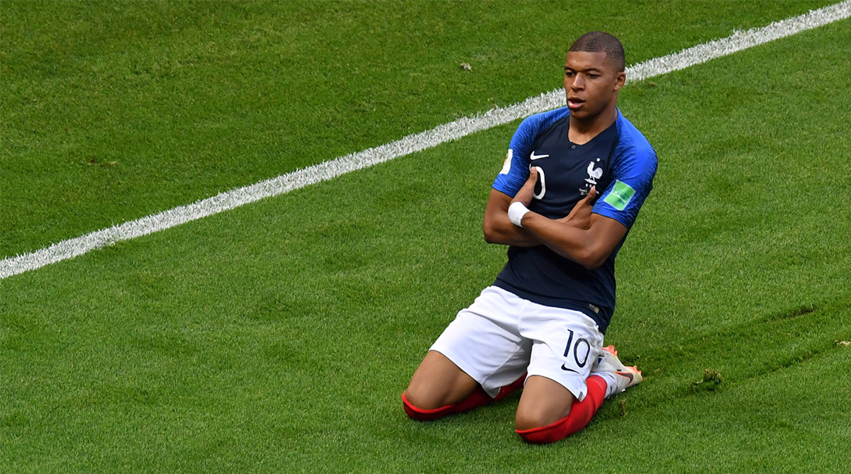 Kylian Mbappe, France Football, 2018 FIFA World Cup, FIFA World Cup 2018, France vs Uruguay