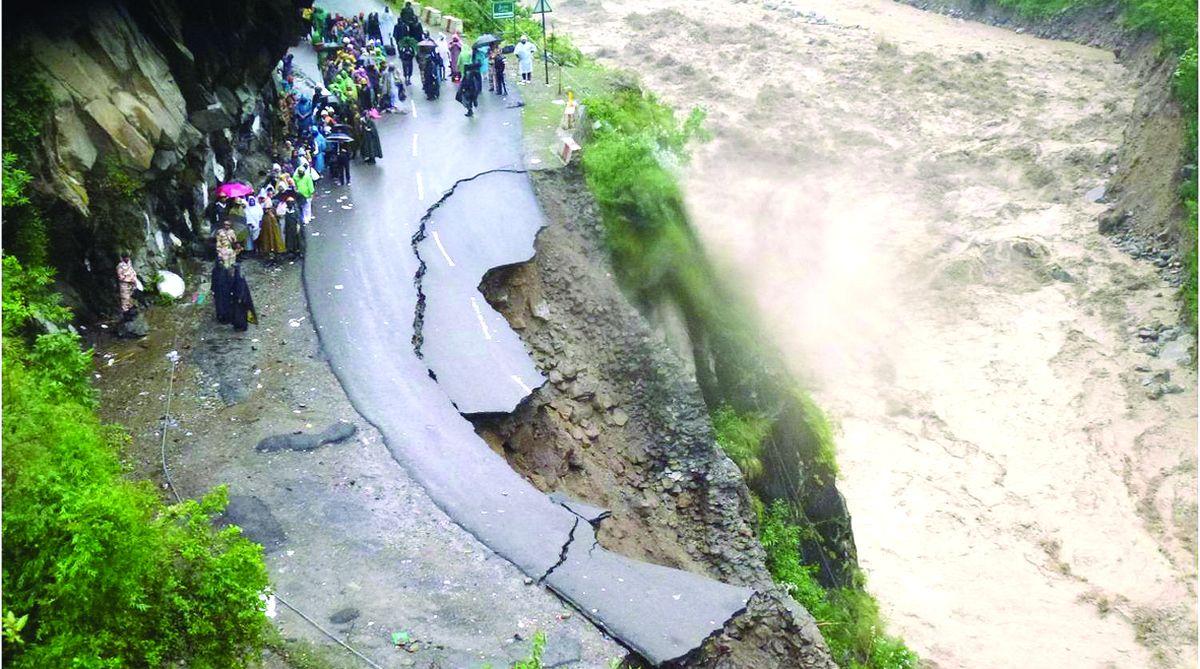 Landslides destroy Army transit camp, cut off road links