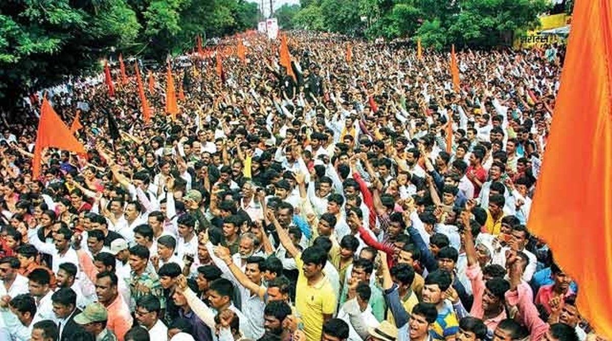 Maratha Kranti Morcha protest