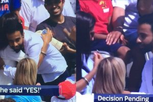 Watch how a guy stole the spotlight with his proposal to his girlfriend during India-England match
