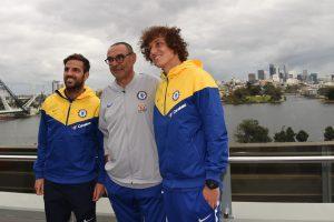 Chelsea boss Maurizio Sarri reacts to narrow win over Perth Glory