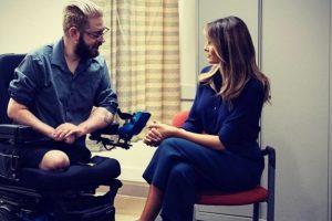 US First Lady Melania Trump on secret trip to visit injured service members