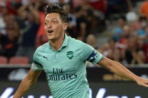 Watch: Mesut Ozil, Pierre-Emerick Aubameyang leak Arsenal's new goal celebration