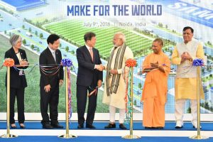 PM Modi, President Moon inaugurate world's largest mobile manufacturing plant in Noida