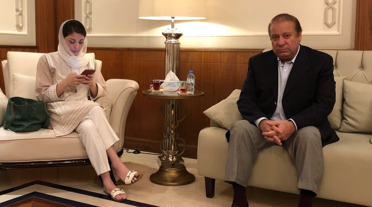 Nawaz Sharif and daughter Maryam