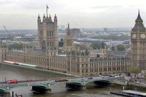 Man arrested after car crash outside UK Parliament