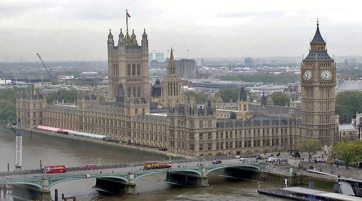 Car crash outside UK Parliament