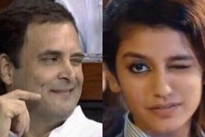 Twitterati on Rahul Gandhi wink: Priya Varrier finally got a competition