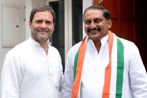 Rahul Gandhi welcomes former Andhra CM N Kiran Kumar Reddy back in Congress