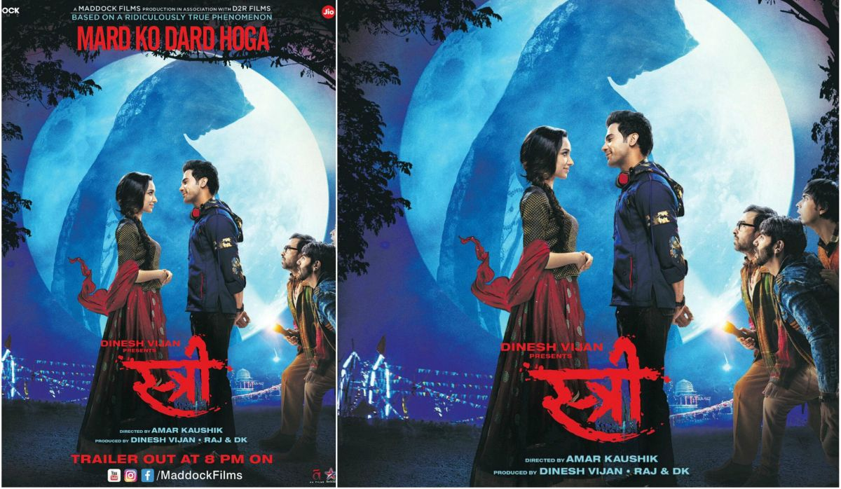 Rajkummar Rao, Shraddha Kapoor in Stree poster