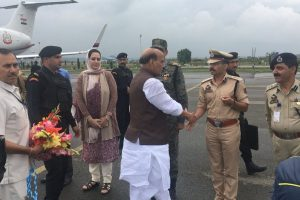 Union minister Rajnath Singh begins 2-day Jammu and Kashmir visit