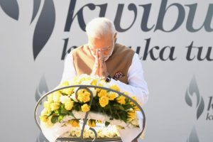 PM Modi visits memorial dedicated to Rwandan Genocide