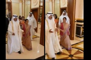 Sushma calls on Bahrain's PM, co-chairs joint commission meeting with counterpart