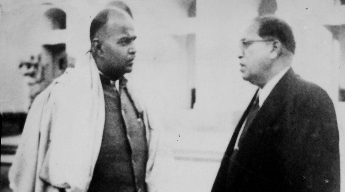 Syama Prasad Mookerjee with BR Ambedkar