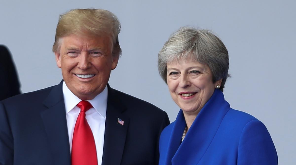 Donald Trump Theresa May