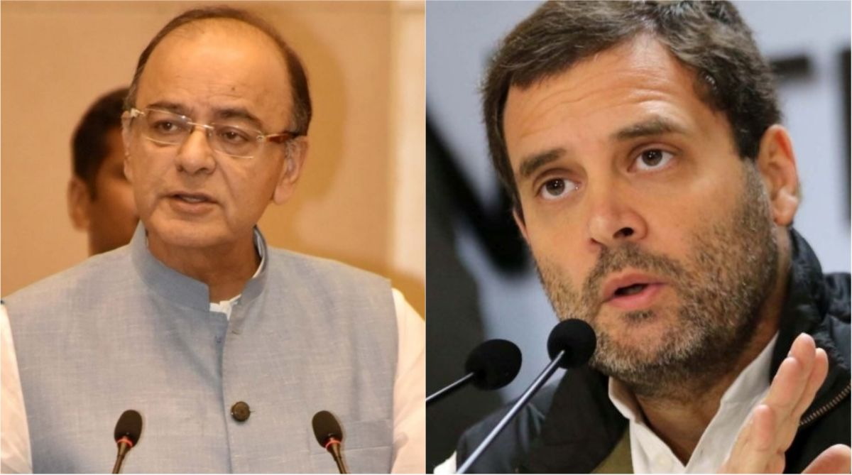 Rahul Gandhi and Arun Jaitley