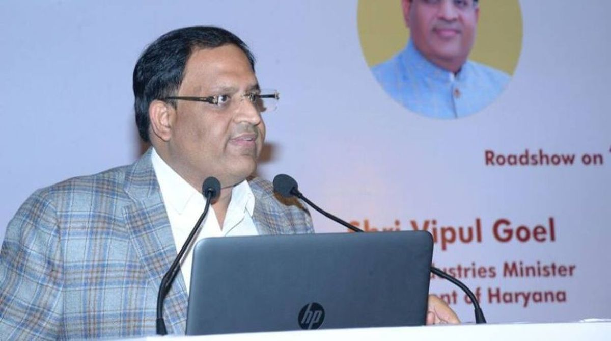 Haryana Industries Minister Vipul Goel