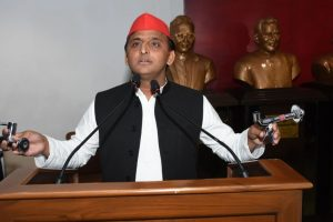 Vishnu temple: Akhilesh taking on BJP on its own turf