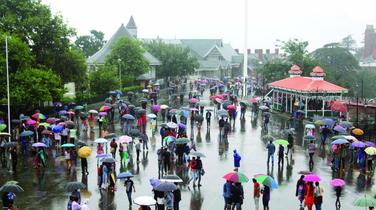 Heavy rain lashed Shimla for the past 24 hours. (Photo: Lalit Kumar)