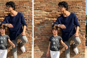 SRK's son Aryan posts adorable picture with kid brother AbRam