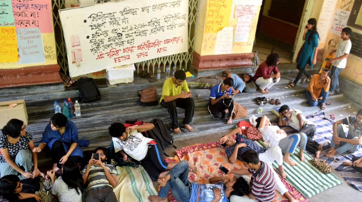 Jadavpur University, admission tests, external agencies, Jadavpur University protest