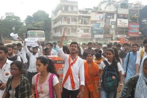 ABVP, DU students protest against Metro fare hike, demand roll-back