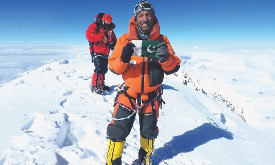 Ali Sadpara on top of K2