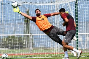 Watch: Liverpool custodian Alisson pulls off sensational save in 1st training session
