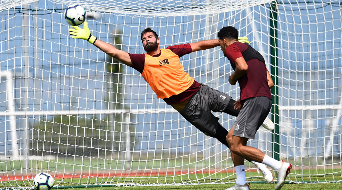 Watch: Liverpool Custodian Alisson Pulls Off Sensational Save