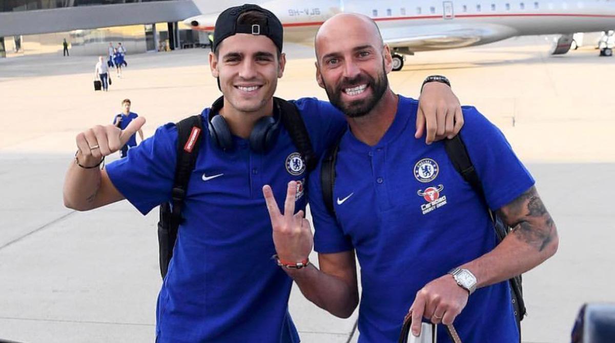 Alvaro Morata, Willy Caballero, Chelsea F.C., Premier League, Instagram