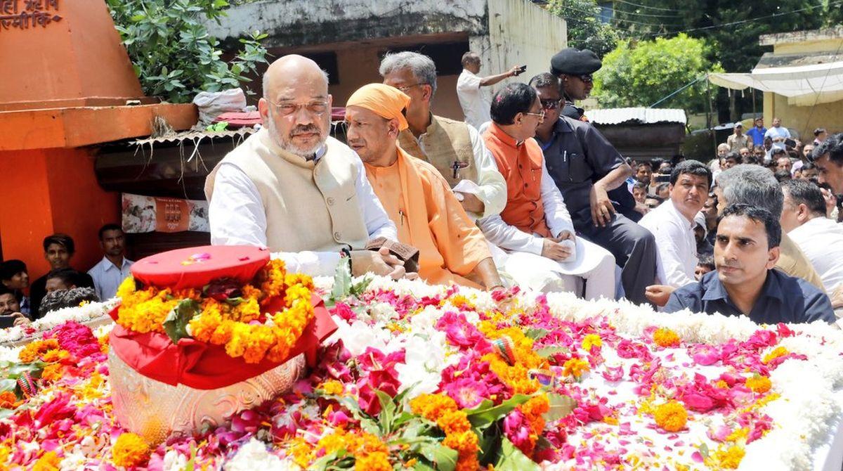 Atal Bihari Vajpayee, Atal Bihari Vajpayee ashes, Atal Bihari Vajpayee ashes immersion, Har ki Pauri, Ganges, Yogi Adityanath, Amit Shah