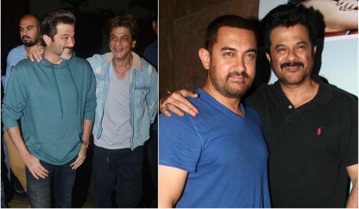 Anil Kapoor, Shah Rukh Khan, Aamir Khan