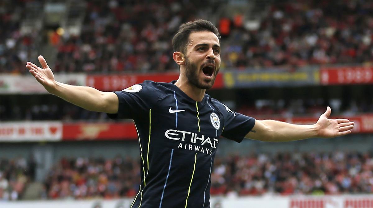 Raheem Sterling, Bernardo Silva, Manchester City F.C., Arsenal vs Manchester City, Manchester City vs Arsenal, Premier League