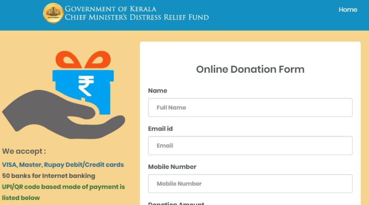 Kerala floods, Donate, Chief Minister, Pinarayi Vijayan, National Disaster Response Force
