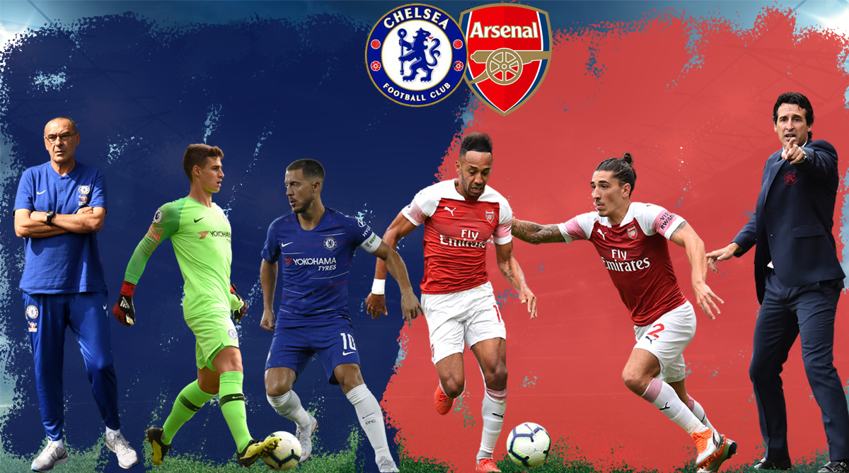 Pierre Emerick-Aubameyang, Hector Bellerin, Kepa Arrizabalaga, Chelsea vs Arsenal, Premier League, Arsenal vs Chelsea, London Derby, Match Preview, Chelsea F.C., Arsenal F.C., Eden Hazard, Maurizio Sarri, Unai Emery, Mesut Ozil, Stamford Bridge