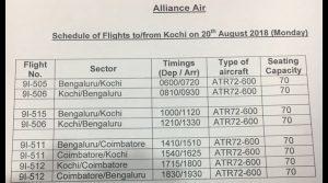 Kerala floods, flight operations begin