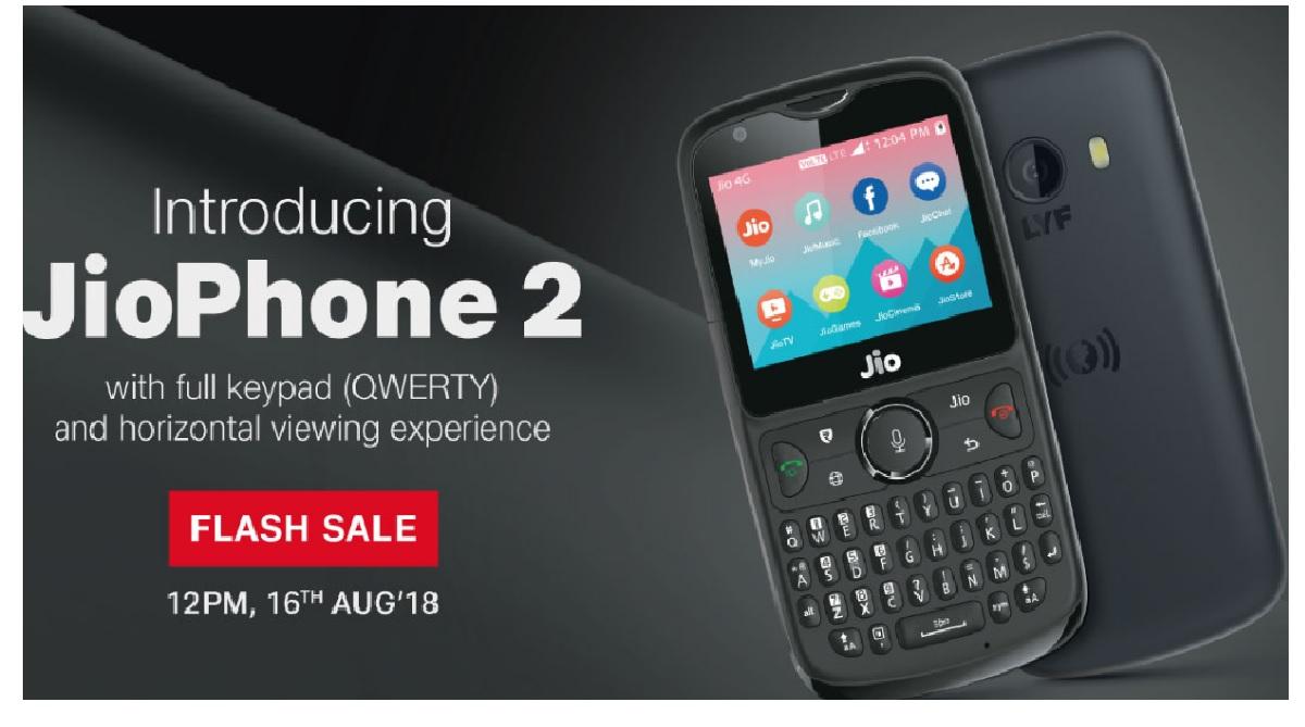 Jio Phone 2, JIO flash sale, specification, tariff plans, jio.com