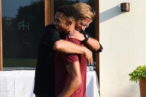 Watch: Liverpool fullback Trent Alexander-Arnold links up with squad, gets big hug from Jurgen Klopp