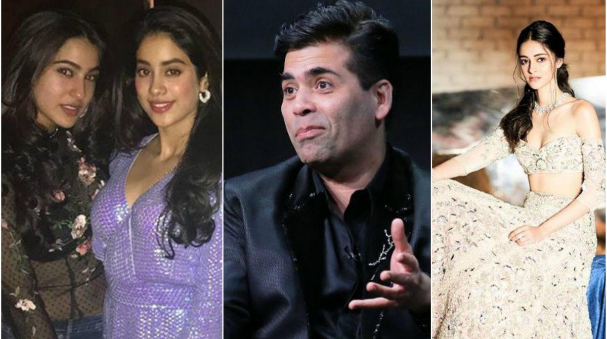 Karan Johar, Sara Ali Khan, Janhvi Kapoor, Ananya Panday