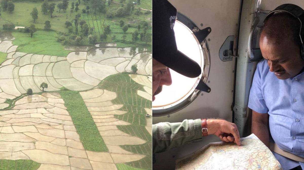 Kodagu floods, President Kovind, HD Kumaraswamy, Karnataka CM, Aerial survey