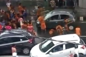 Watch | Kanwariyas vandalise car in Delih's Moti Nagar after it brushes one of them