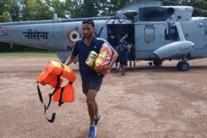 Kerala floods | Rains relent; flight operations begin at Naval airbase in Kochi
