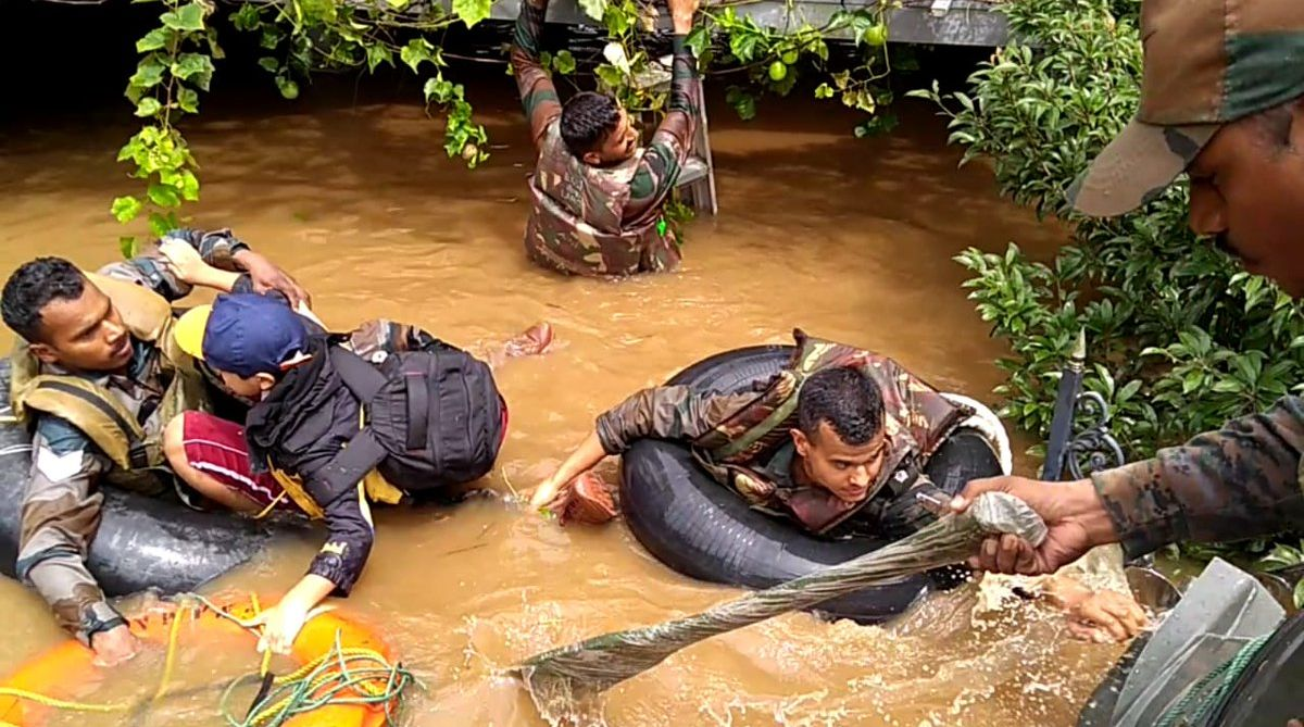 Kerala: Forces declare war against floods, to save lives